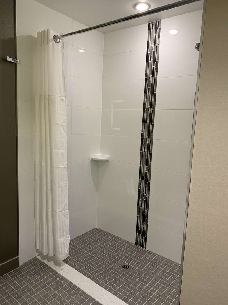 Best Western Plus Hinton Inn & Suites - Accessible Room Bathroom with Roll-in Shower