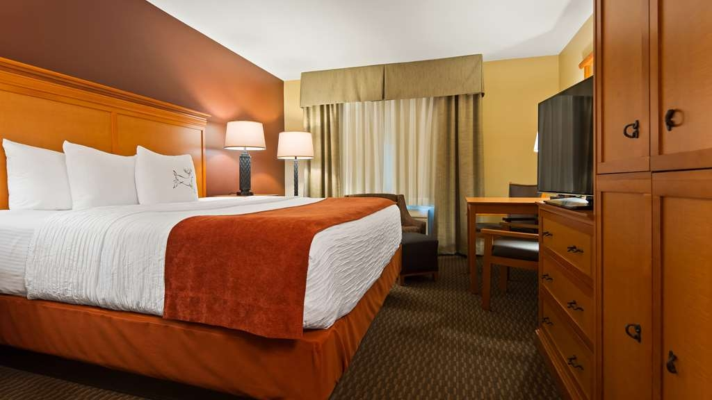 Best Western Plus Deer Park Hotel and Suites - Stretch out and relax in our King Room.