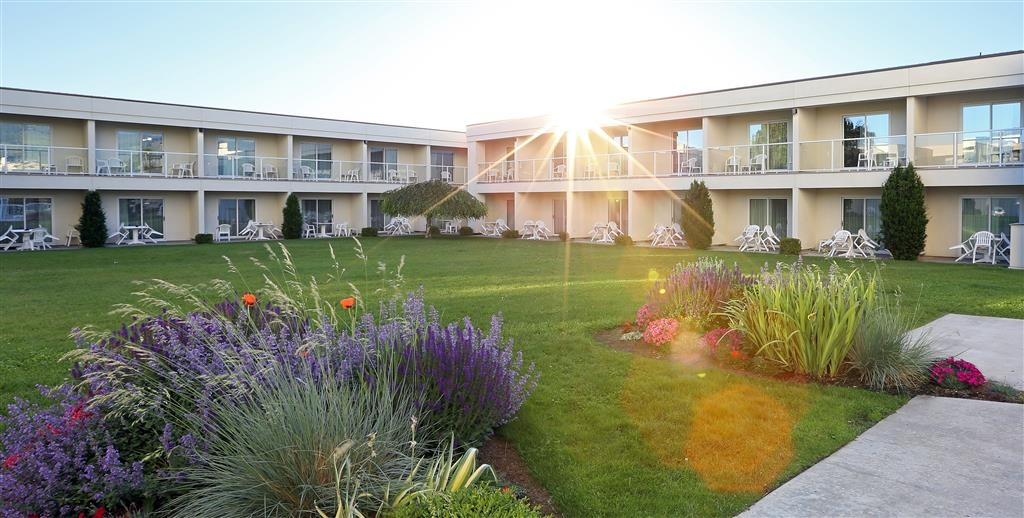 Best Western Plus Kelowna Hotel & Suites - Find time to enjoy the lovely grass courtyard. Play games with your friends, read a book or relax walking around the gardens.