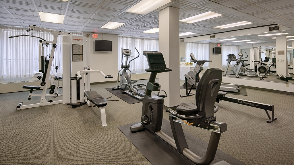 Best Western Plus Carlton Plaza Hotel - Our hotel has a compact fitness center that will help curb your work out appetite.