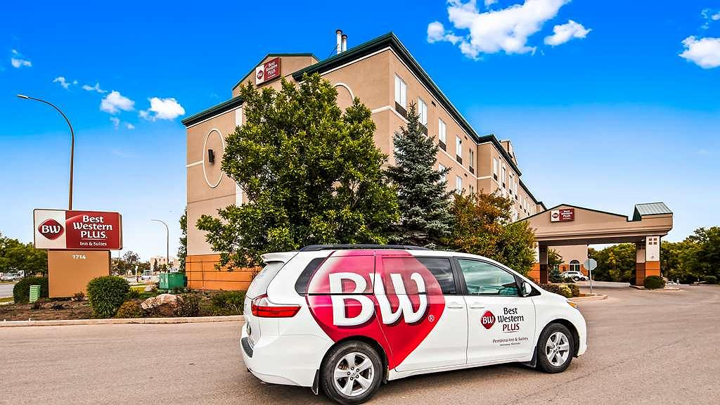 Best Western Plus Pembina Inn & Suites - Airport Shuttle is available. Make arrangements with the front desk 48hrs prior to arrival.
