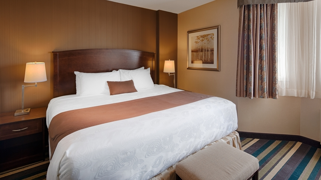 Best Western Plus Winnipeg Airport Hotel - Stretch out and relax in this guest room.