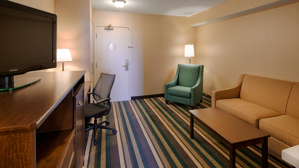 Best Western Plus Winnipeg Airport Hotel - Spend some time after a hectic day in the living room featured in this guest room.
