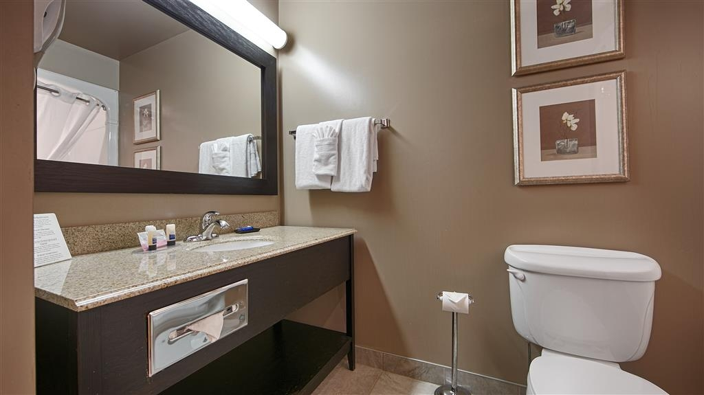 Best Western Plus Moncton - Use our granite counter tops or large vanity mirrors for your additional items.