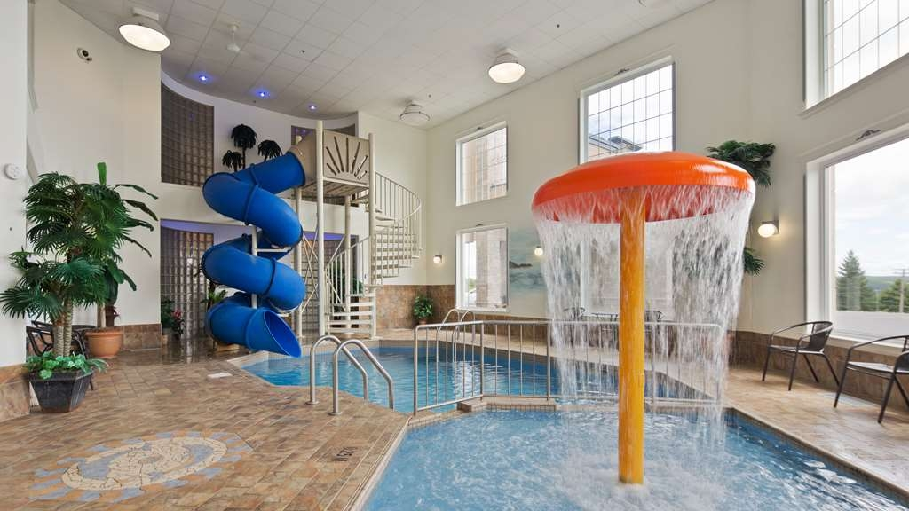 Best Western Plus Edmundston Hotel - For your convenience our indoor heated pool with a waterslide is open all year round.