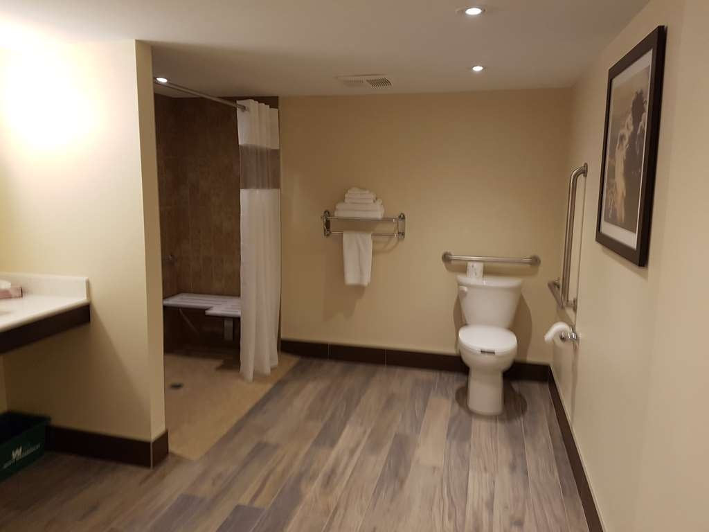 Best Western Plus Durham Hotel & Conference Centre - King Accessible Room, ADA compliant featuring roll-in shower