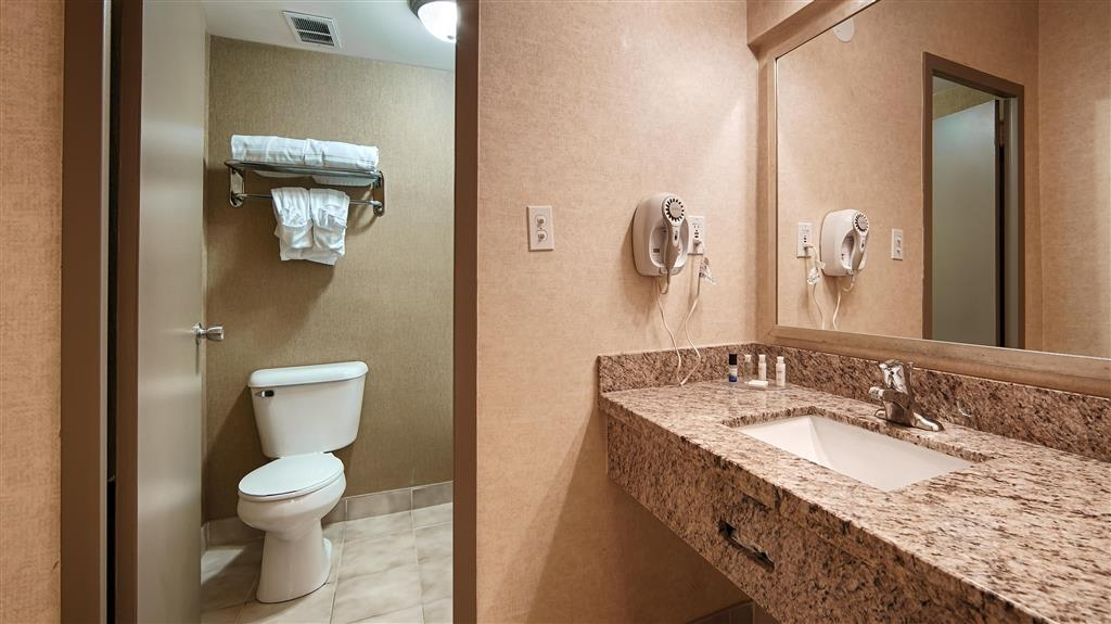 Best Western Plus Durham Hotel & Conference Centre - Our guest washroom features a separate vanity area.
