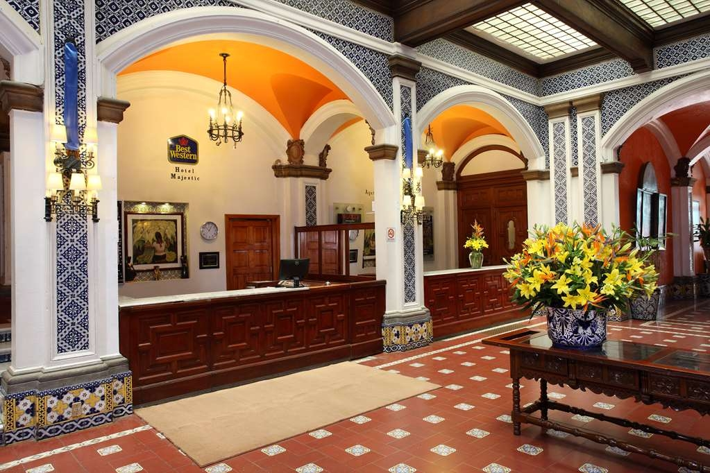 Best Western Hotel Majestic - Colonial style of carved of wood, quarry, bronze and talavera.