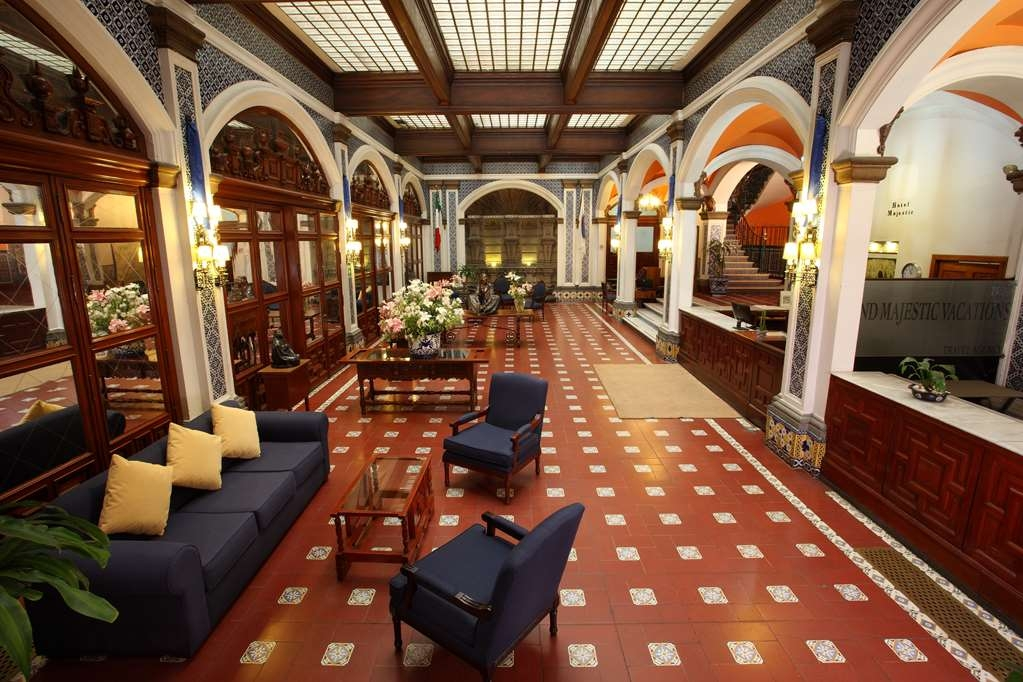 Best Western Hotel Majestic - Colonial style of carved of wood, quarry, bronze and talavera