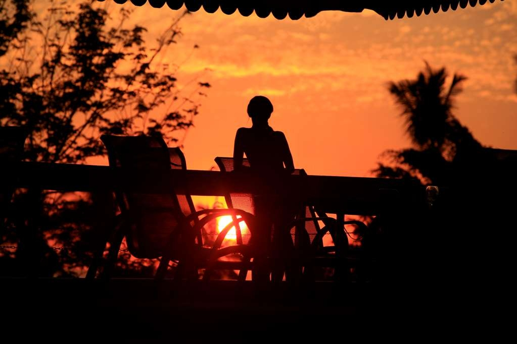 Best Western Tamarindo Vista Villas - Lovely sunset from terrace and Bar.
