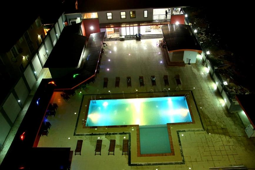 Best Western Plus Elomaz Hotel - Pool Area at Night