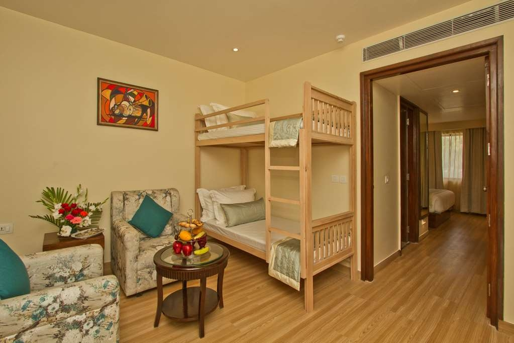Best Western Himalyan Monal - Bunk Beds and Seating Area in the Two Room Family Suite