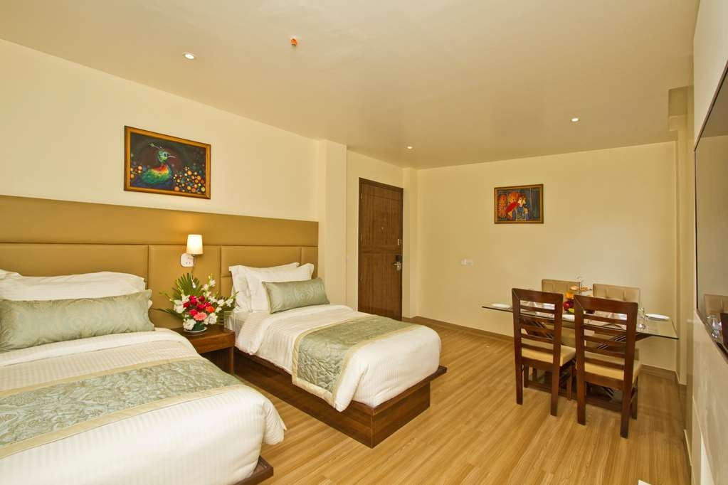 Best Western Himalyan Monal - Two Twin Size Beds in One Room of the Family Suite