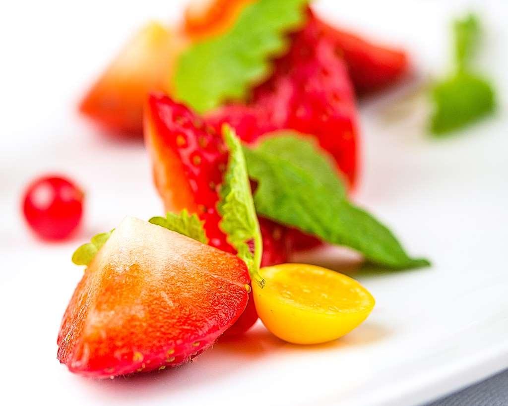 Best Western Hotell Karlshamn - À la carte strawberry dessert.