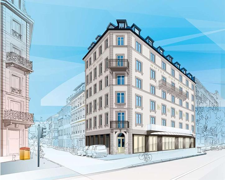 Hotel des Vosges, BW Premier Collection - Facade angle copie