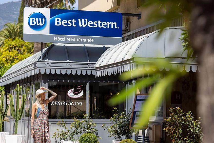 Best Western Hotel Mediterranee Menton - Vista exterior