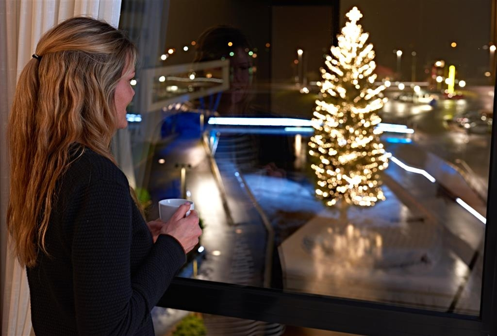 Best Western Royal Holstebro - River View at Christmastime