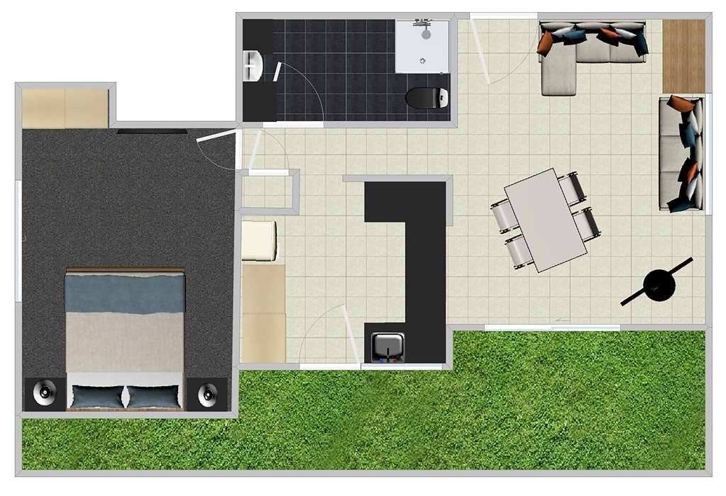 Best Western Plus The Stirling Rockhampton - One Bed Apartment Floor Plan