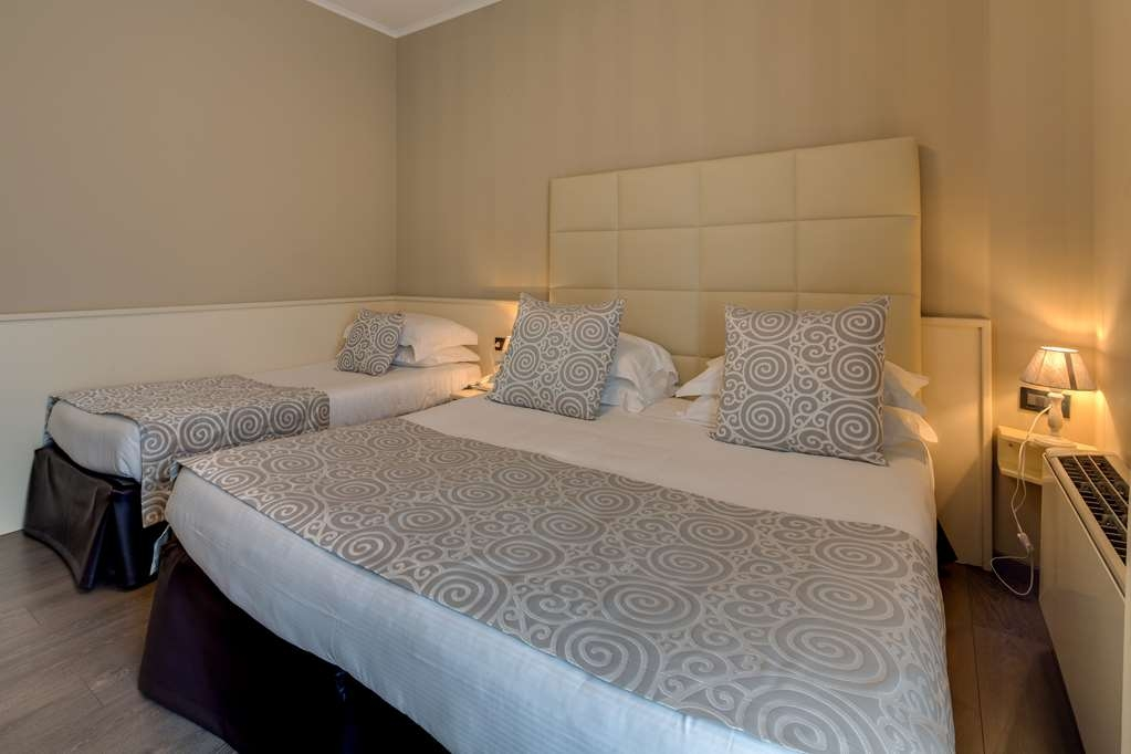 Best Western Hotel Nuovo - Guest Room with One Queen Size and One Twin Size Bed